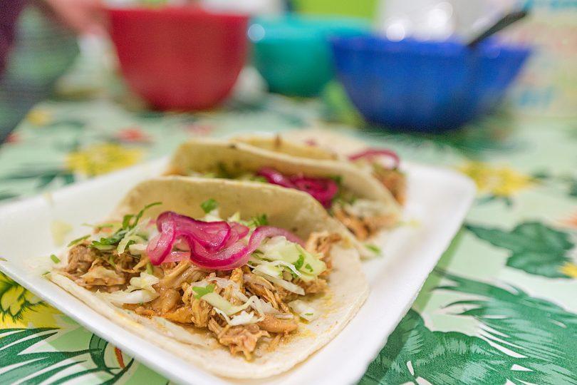 Tacos pollo pibil